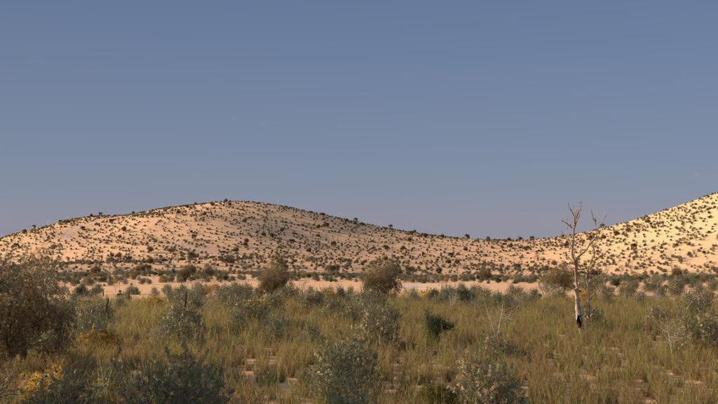Beautiful view of desert
